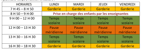 planning scolaire 2017-2018